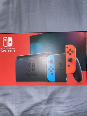 Nintendo Switch With Neon Blue and Neon Red Joycons for Sale in Phoenix, AZ