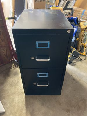Black Filing Cabinet - 2 drawer for Sale in Mission Viejo, CA