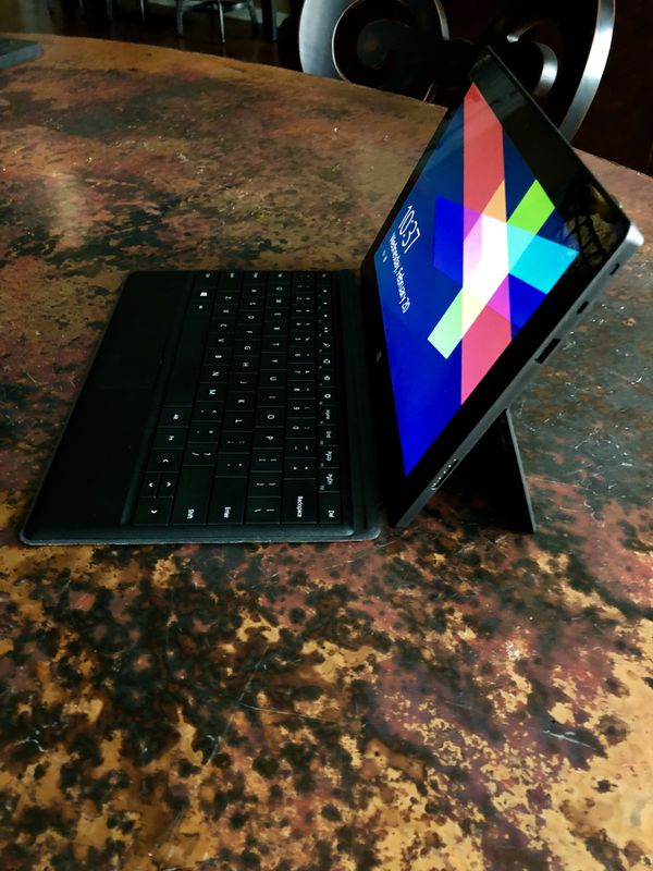 Microsoft Surface + Keyboard + Charger + Case