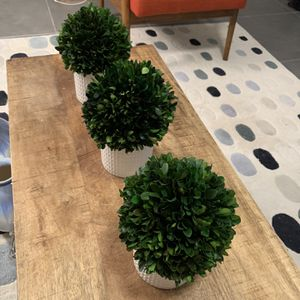 Set Of 3 Small Table-Top Fake Plants for Sale in Miami, FL