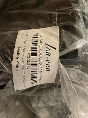 Two 15x6.00-6 Inner Tube 15x6.00-6 Tubes for Lawn Mower 15X6-6 tubes TR13 Valve for Sale in Henderson, NV