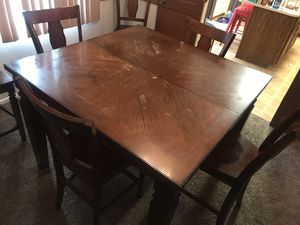 Ashley Furniture Pub style Table and chairs & China cabinet for Sale in North Ridgeville, OH