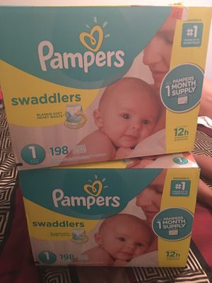 **BRAND NEW, NEVER OPENED** PAMPERS SWADDLERS SIZE ONE- for Sale in Arlington, TX