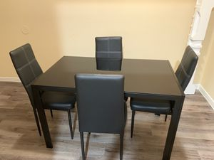 Glass kitchen table with 4 chairs for SALE!!!! for Sale in Houston, TX