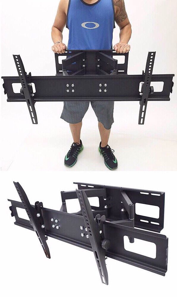 New in box 40 to 85 inches swivel full motion tv television wall mount bracket 110 lbs capacity with hardwares included