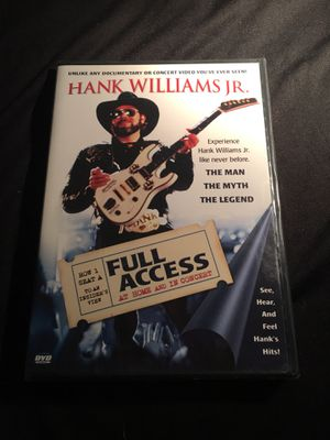 2004 Crown Media HANK WILLIAMS JR. Full Access at Home and In Concert DVD BRAND NEW NEVER OPENED for Sale in La Habra, CA