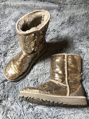 UGG Boots in Champagne / Gold Sequins for Sale in Austin, TX