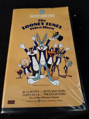 THE LOONEY TUNES VIDEO SHOW VHS WARNER HOME VIDEO CLAMSHELL 1985 CARTOON RARE for Sale in Appleton, WI