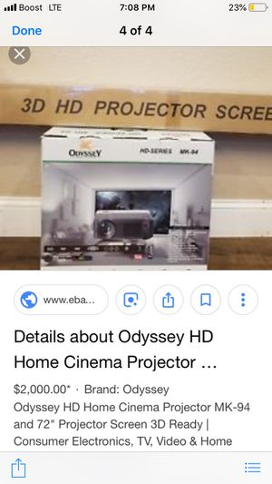 Projector screen for Sale in North Randall, OH