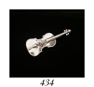 "2.4"" x .85"" Solid Sterling Silver Violin Cello Fidfle Pin Brooch, signed for Sale in Columbia, SC"