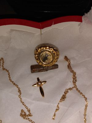 Gold ring with coin 2000 America eagle with necklace for Sale in Mesa, AZ