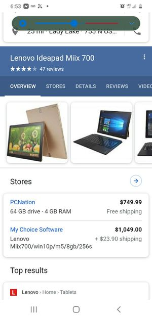 Lenovo miix 700 ideapad 2 in 1 laptop/tablet for Sale in Inverness, FL