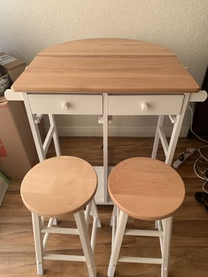3 Piece Expandable Kitchen Island Set for Sale in San Francisco, CA