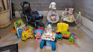 Baby lot stroller, jumper, swing, toys for Sale in North Royalton, OH