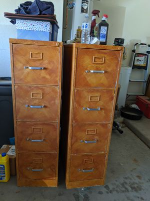2 4 drawer metal filing cabinets for Sale in Phoenix, AZ