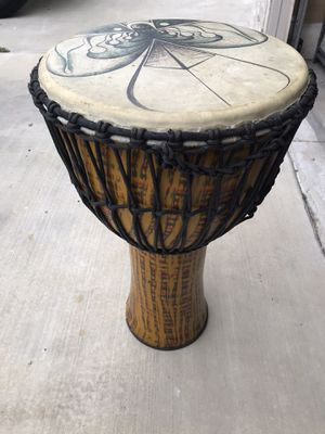 Large Carbon Fiber Djember Drum with case for Sale in Los Angeles, CA