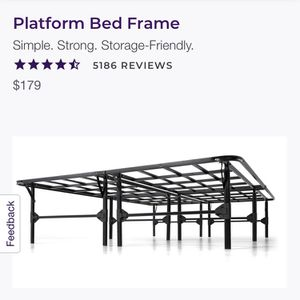 Queen Platform Bed Frame New In Box for Sale in Rosemead, CA