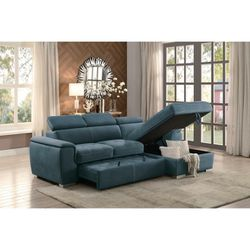 Ferriday Blue Storage Sleeper Sectional for Sale in Austin,  TX