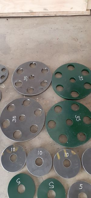 STEEL weight plates OLYMPIC HOLE for Sale in Los Angeles, CA