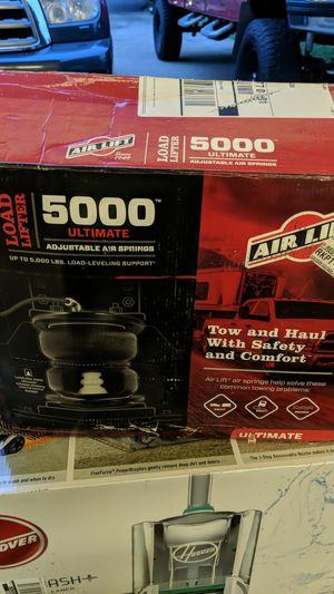 I have a brand new in box set of Air Lift 5000 ultimate load lifter air springs for a 2007-2019 Toyota tundra 2wd or 4wd. for Sale in Newburgh, IN