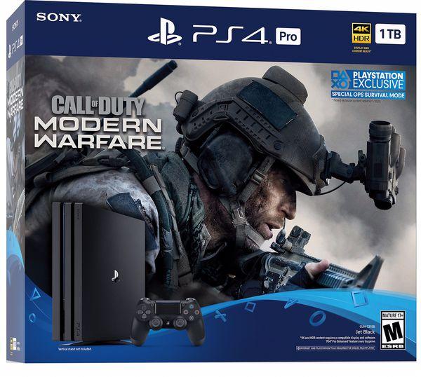 PS4 Pro 1TB Modern Warfare Bundle