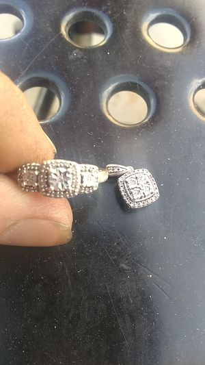 Sterling Silver Ring w/Diamond and Charm for Sale in Golden, CO