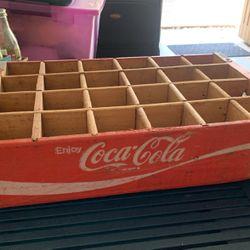 Coke-cola Vintage Wooden Crate For Glass Bottles for Sale in Orlando,  FL