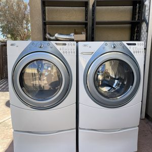 Whirlpool Duet Washer & Dryer With Pedestal for Sale in Nuevo, CA
