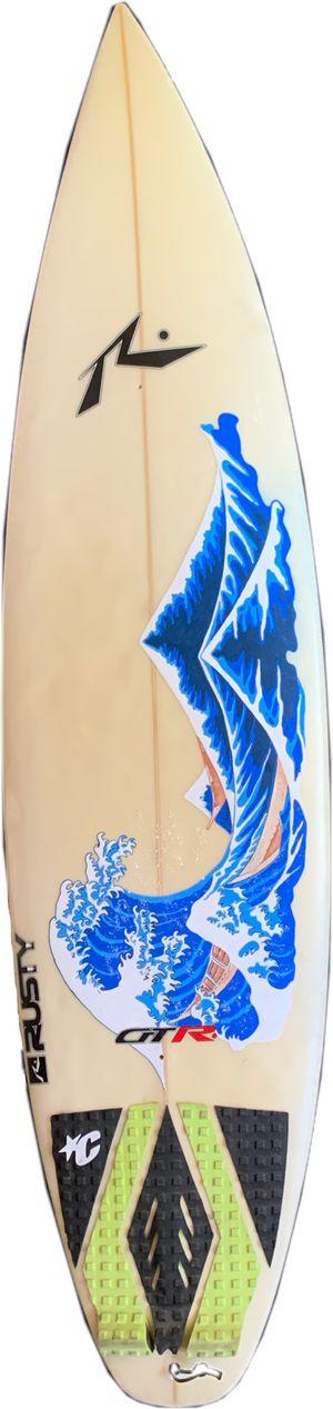 "Custom ""Great Wave off Kanagawa"" Surf Board wall art. for Sale in Alhambra, CA"