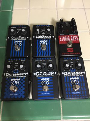 Bass Guitar pedals 6 pieces total for Sale in Los Angeles, CA
