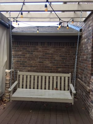 Wooden Porch Swing with hanging chains for Sale in Alpharetta, GA