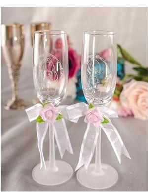 Precious Moments anniversary champagne glasses for Sale in Stockton, CA