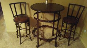 Bar table and two matching chairs for Sale in Cape Girardeau, MO