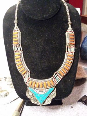 925 silver and turquoise India necklace for Sale in Willow Street, PA