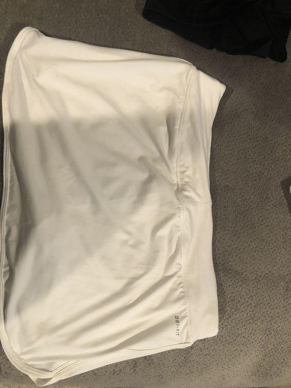 Nike women's white tennis skirt size med