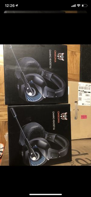 Brand New ONIKUMA Xbox One Gaming Headset, PS4 Headset with 7.1 Surround Sound, Noise Canceling Over-Ear Headphones with Mic, Soft Memory Earmuff for for Sale in Sunbury, OH