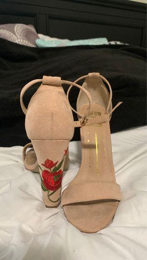 Rose beige sandal heel for Sale in Covina, CA