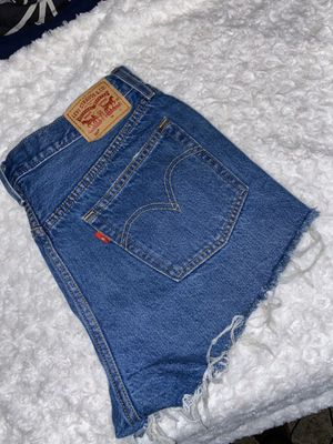 Women's Levi denim shorts for Sale in Milwaukee, WI