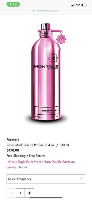 "Montale ""roses musk"" 1.7 oz for Sale in Carson, CA"