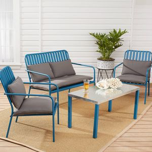 4-Piece Outdoor Patio Conversation Set (Purchase via PayPal Invoice with Free Shipping) for Sale in Bensalem, PA