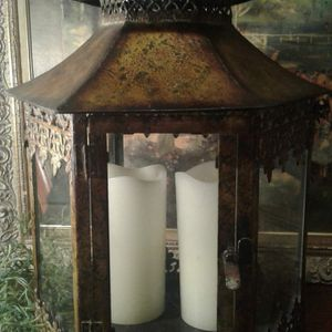 Large Vintage Candle Lantern for Sale in Greensboro, NC