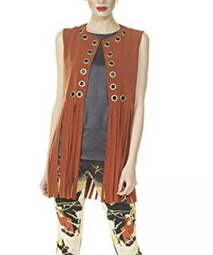 Eva Varro Grommet Fringe Vest ..Size M for Sale in Pomona, CA