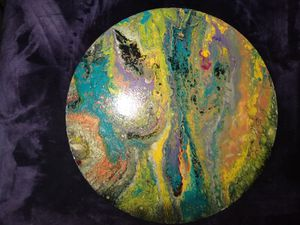 Acrylic pour painting for Sale in Lubbock, TX