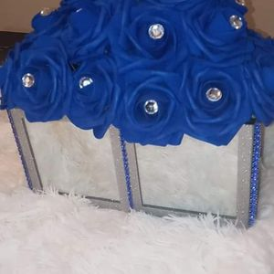 Mirror Box w/Blue Roses for Sale in Peoria, IL