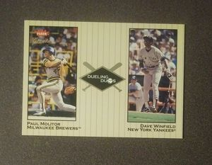 2002 Fleer Greats Dueling Duos Dave Winfield Yankees Paul Molitor Brewers #23 Baseball Card Vintage Collectible Sports MLB Special for Sale in Salem, OH
