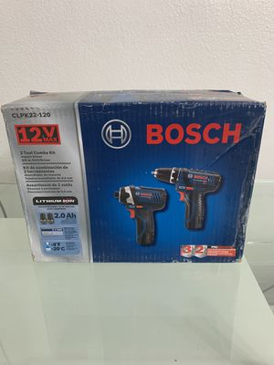 Bosch Power Tools Combo Kit CLPK22-120 - 12-Volt Cordless Tool Set (Drill/Driver and Impact Driver) with 2 Batteries, Charger and Case for Sale in Miami, FL
