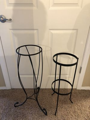 Partylite metal plant floor stand set of 2 indoors or outdoors for Sale in Puyallup, WA