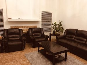 Sofa love seat and 3 chairs and tables for Sale in Peoria, AZ