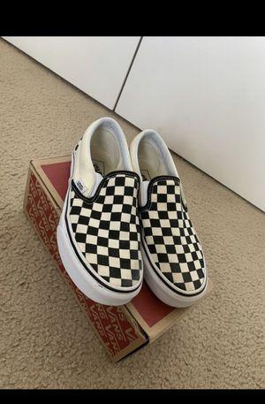 Checkered slip on vans for Sale in Woodbridge, VA