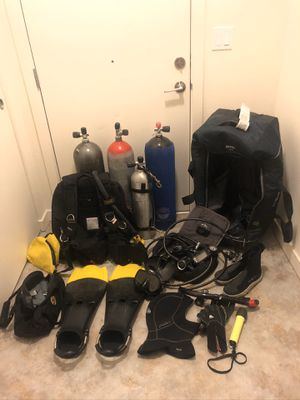Lot of scuba gear with dry suit! for Sale in Portland, OR